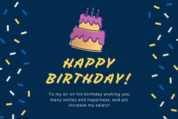 Funny and Impressive Birthday Wishes, SMS & Greetings for Boss/ Sir