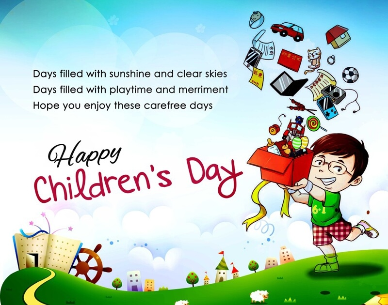 Children's Day SMS & Greetings from Parents and Teachers.