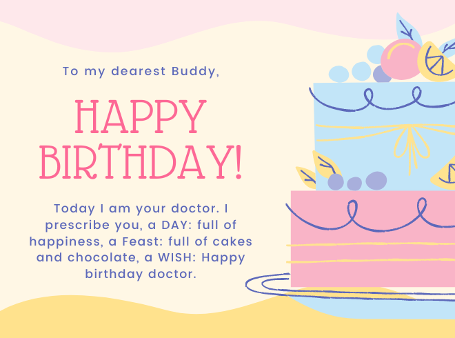 Funny Happy Birthday Wishes and SMS for a Doctor Friend